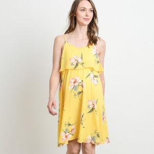 Floral Ruffle Discreet Nursing/Maternity Dress